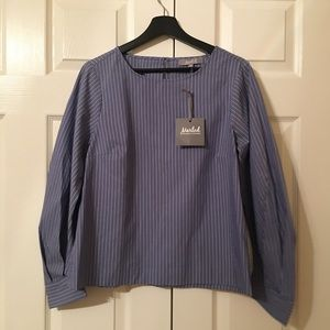 Tops - Cute! Blue pinned stripped blouse